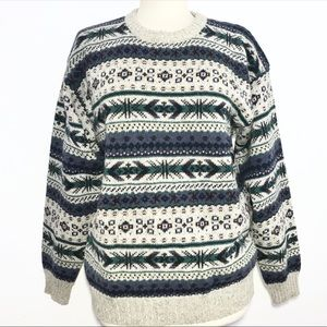 WOOLRICH chunky knit wool sweater
